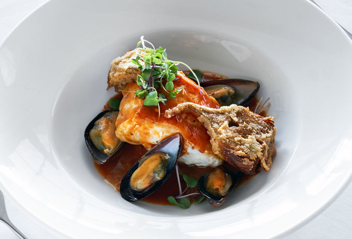 Sea devil with mussels Lunch Meal Time Seafood Seafoods Appetite Boil Bowl Close-up Devil Fish Food Food And Drink Giant Devil Ray Healthy Eating Meal Mollusca Mussels No People Prepared Food Ready-to-eat Restaurant Restaurant Food Sea Devil Seafood Serving Size Still Life