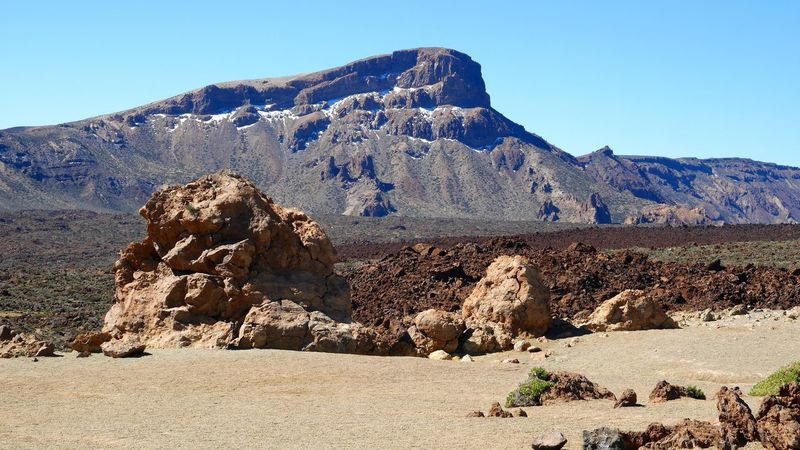 Arid Climate Beauty In Nature Clear Sky Desert Landscape Lava Mountain Mountain Range Non-urban Scene Physical Geography Rock Rock - Object Rock Formation Rocky Mountains Scenics Showcase April Tenerife Teneriffa The KIOMI Collection Tranquil Scene Tranquility Wüste  Teide National Park