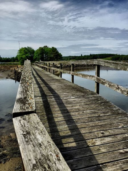 Old Walkway Water Low Tide Sunny Day Maine