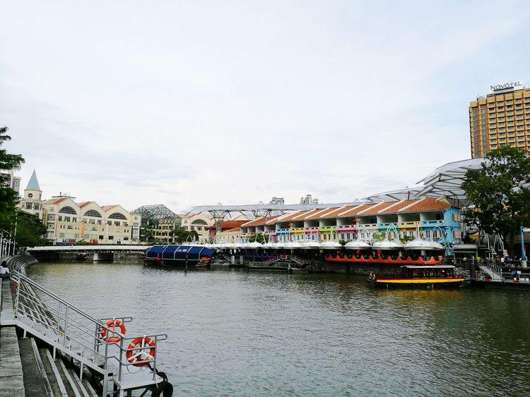 Transportation River Travel Destinations Built Structure Cloud - Sky No People Water City Cityscape