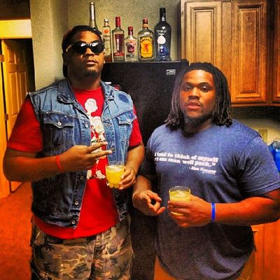 Me and my brother @danbetheman Last night before the kickback cooling. The kickback was an epic success and we appreciate everybody that came out and turned up with us. It got mad real last night hahaha. We'll be letting everybody know when the Kickback Part II happens. TroyU Turnt SuccessfulNight Turndownforwhat