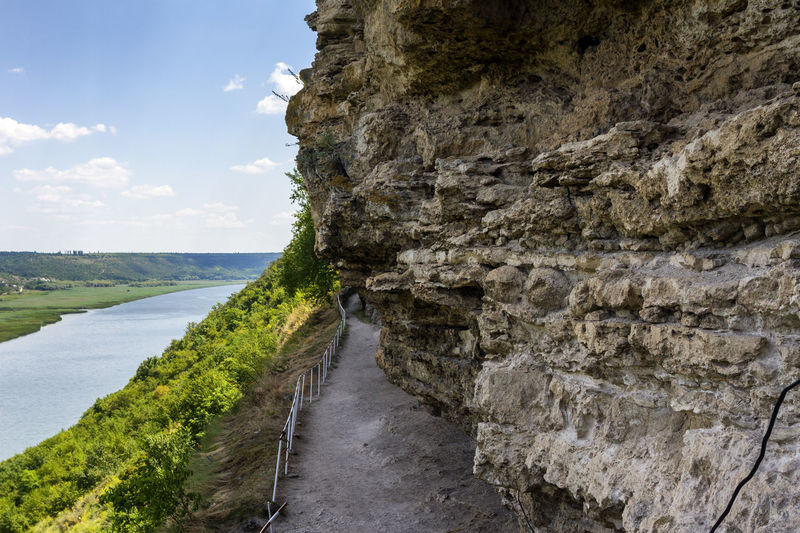 Footpath along cliff