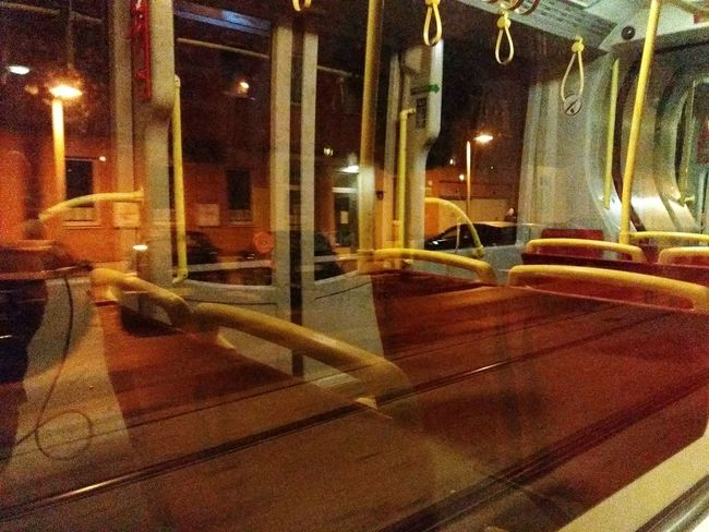 Tram Nightphotography No People Public Transportation Mobile Photography Night Indoors  Illuminated