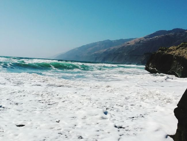 Beach Landscape Sand Sea No People Outdoors Water Nature Sky Day Travel Destinations Clear Sky Scenics Beauty In Nature Horizon Over Water Tide Coming In CaliLife California Coast California Love Wave Motion Tidal Wave