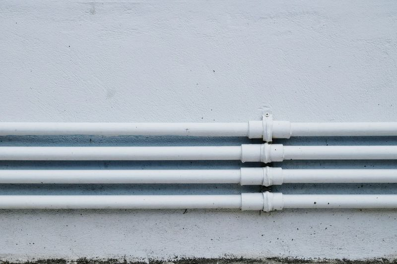 Close-up of white pipes