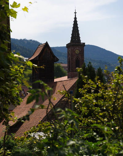 Murgtal Schwarzwald Architecture Black Forest Building Exterior Built Structure Clock Tower Day Kirchturm Nature No People Outdoors Sky Tree Uhrturm Weisenbach