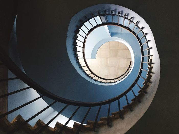 EyeEm Selects Staircase Spiral Steps And Staircases Architecture Built Structure Railing Steps Spiral Stairs Stairs No People Indoors  Day Spiral Staircase Havana Havanna, Cuba Cuba