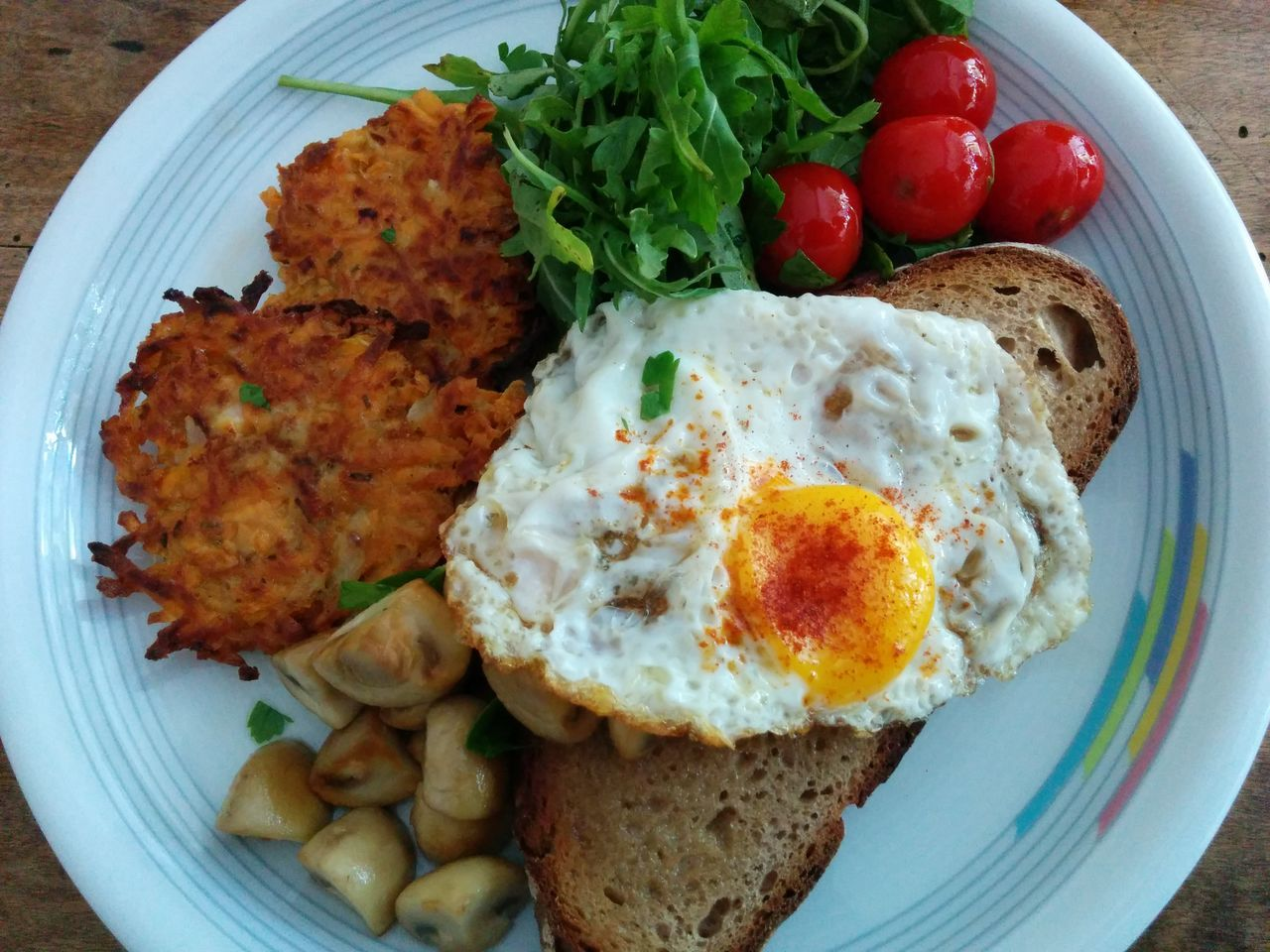 Close-up of breakfast on table