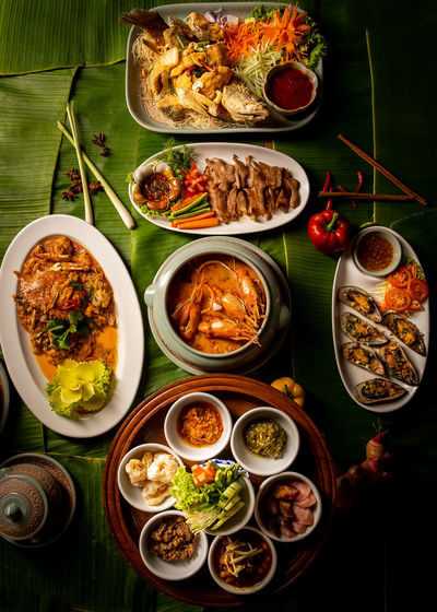Thai food with
