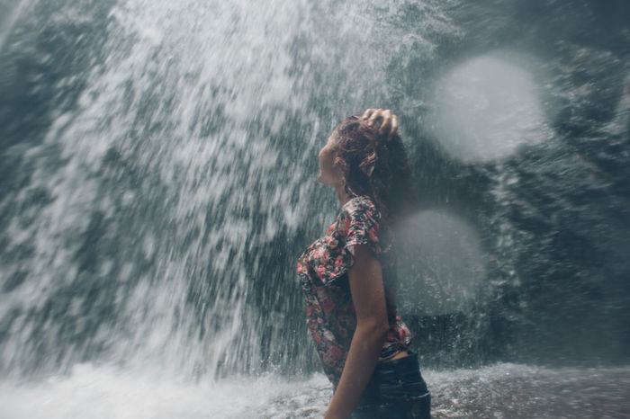Ankle Deep In Water Blurred Motion Day Drop Enjoyment Fun Leisure Activity Lifestyles Motion Nature One Person Outdoors Power In Nature Real People Refreshment Splashing Standing The Great Outdoors - 2017 EyeEm Awards The Portraitist - 2017 EyeEm Awards Three Quarter Length Water Waterfall Wave Wet Live For The Story Connected By Travel