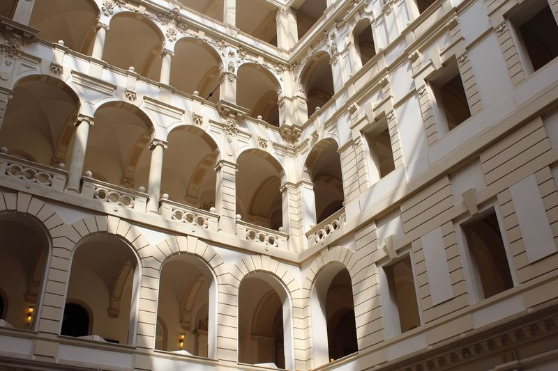 The Most Beautiful Coffee In World Architecture Building Exterior Built Structure Architectural Column No People Indoors  Day Coffee Budapest Prague Travel Traveling Tranquility Equal Similitud Balcony Window