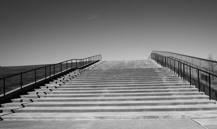 Staircase Against Clear Sky