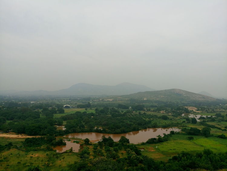 A view from mid hill point at Horsley Hills India Beauty In Nature Day EyeEm Best Shots EyeEm Green EyeEm Landscape EyeEm Nature Lover Field Landscape Mountain Nature No People Nwin Photography Outdoors Rural Scene Scenics Sky Sony Xperia M5 Tranquil Scene Tranquility Tree Water Xperian Photography