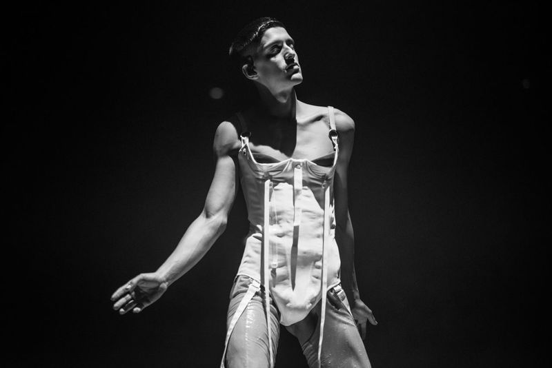 Arca live at London's Roundhouse Young Adult London Black And White Music Music Photography  Concert