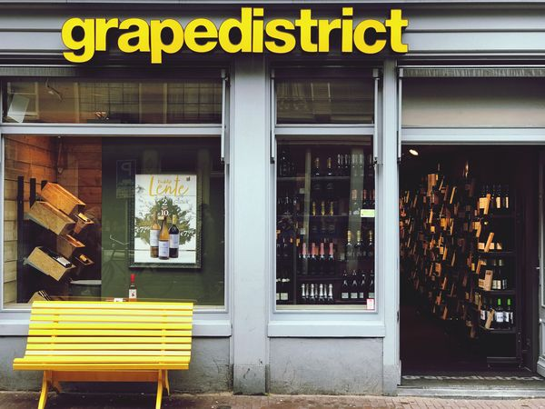 Wine shop Amsterdam Netherlands Amsterdam Wine Shop Building Exterior Architecture Glass - Material Sign Built Structure
