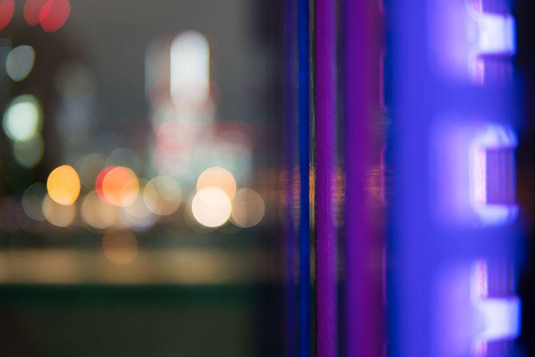 Japan Yokohama Backgrounds Close-up Focus On Foreground Illuminated Indoors  Multi Colored Night No People Purple