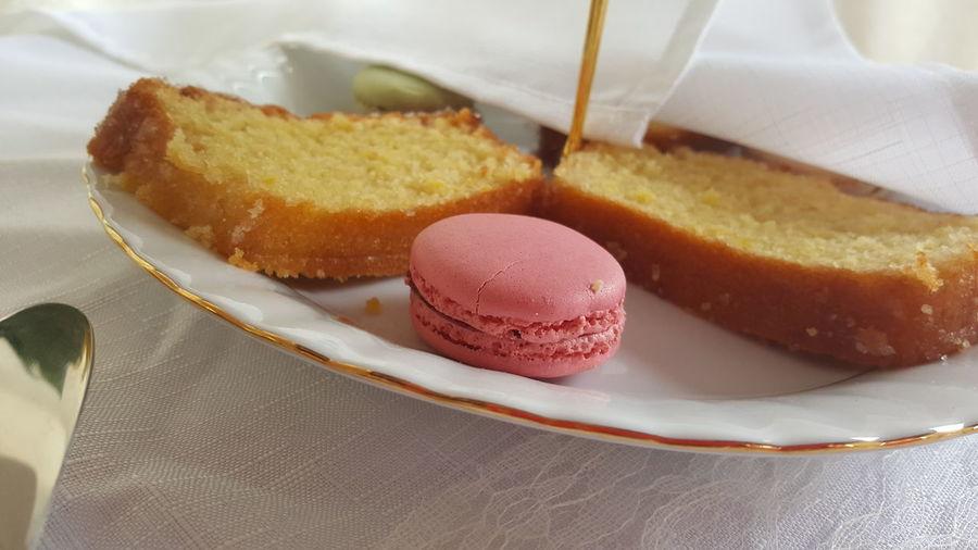 Sweet Food Food And Drink Indoors  Ready-to-eat Cake Close-up No People Indulgence The Week On EyeEm Afternoontea Macaroons Lemondrizzlecake