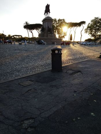 Rome Rome Italy Descent Twilight Sunset Plant Landscape Horizon Down Beautiful Statue Heritage Light And Shadow Tree Beach Water Silhouette Sky