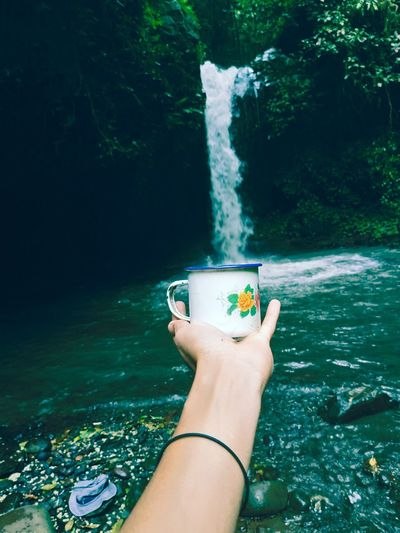 Enjoy Waterfall Human Hand Water UnderSea Underwater Drink Personal Perspective First Eyeem Photo