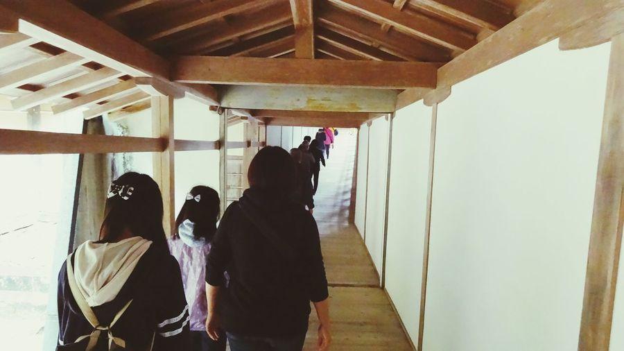 Japan Temple Corridor People Kouyasan