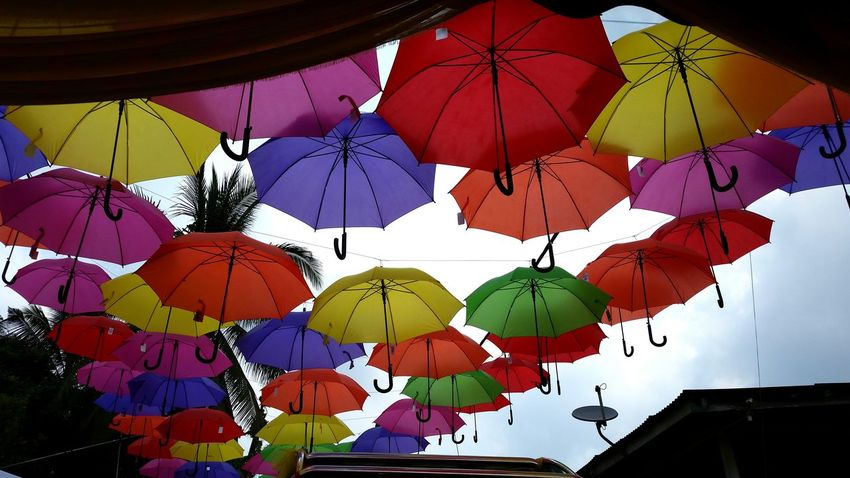 Photographic Memory Umbrellas Colorful Sky Wedding Photography Wedding Blue Pink Orange Yellow Green Tumblr