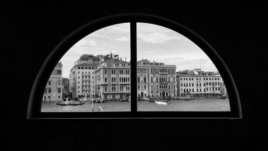 Punta Della Dogana Romantic Travel Photography Venice, Italy Arch Architecture Blackandwhite Blackandwhite Photography Building Exterior Built Structure City Day Exposition Indoors  Italy No People Sky Travel Destinations Venetian View Venice Window first eyeem photo Black And White Friday EyeEmNewHere Be. Ready.