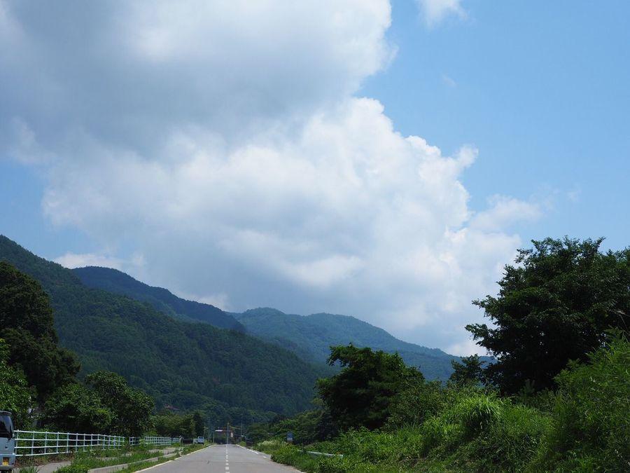 夏の空… 今日の空 青空 空 夏空 山 My Sky 信州 Nagano, Japan EyeEm Nature Lover Nature