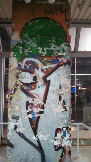 Berlin Wall - Piece in Chicago Chicago Chicago Architecture Chicago Illinois Chicago El Chicago Brown Line CTA Station Western Line Berlin Wall Chicago Concrete Wall Concrete Wall Graffiti Cement Spray Paint Street Art Vandalism Mural Aerosol Can