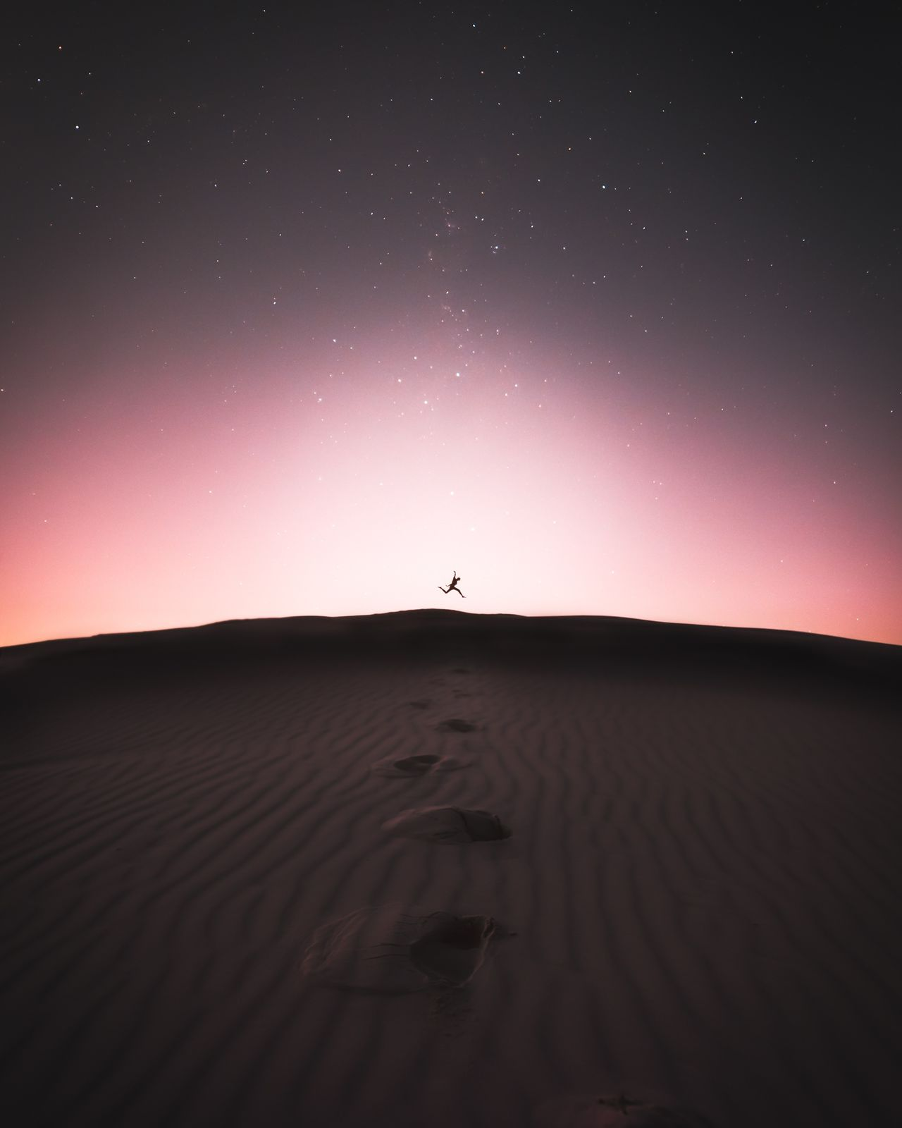 Astronomy,  Beauty In Nature,  Desert,  Galaxy,  Horizon Over Land