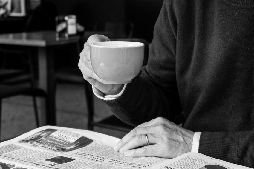 Lord drinking tea while reading the newspaper Adult Bnw Bnw_captures Cup Of Tea Holding Cup Human Body Part Human Hand Indoors  Men Newspapers One Man Only One Person Table Tea Cup TeaCup