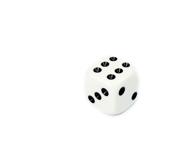 Chance Close-up Copy Space Day Dice Gambling Indoors  Leisure Games Luck No People Studio Shot White Background