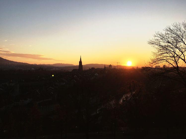 Sunset Architecture City Sun Day