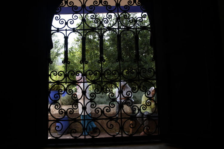 window Architecture Art And Craft Black Background Closed Entrance Gate Grate Green Color Indoors  Iron - Metal Metal No People Ornate Window Wrought Iron