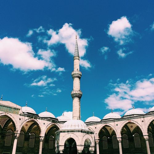 📿 Architecture Cloud - Sky Building Exterior Mosque Sky Religion Spirituality Low Angle View Place Of Worship No People Outdoors Day Travel Destinations Travel Tourism EyeEm Turkey Istanbul City The Week On EyeEm EyeEmNewHere Been There.