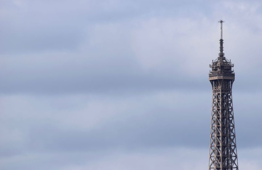 Eiffel tower Eiffel Tower Architecture Broadcasting Building Building Exterior Built Structure Cloud - Sky Communication Connection Global Communications Low Angle View Nature No People Outdoors Satellite Satellite Dish Sky Spire  Tall - High Technology Tower Travel