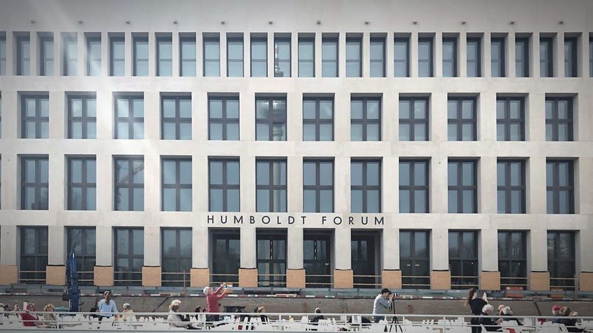 Windows Humboldtforum Urban Landscape Ship Architecture Building Exterior Built Structure Building City Day Real People Incidental People Outdoors