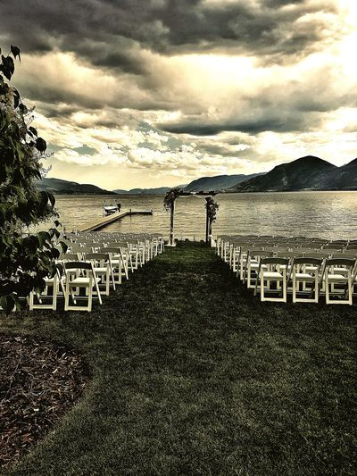 Cloud - Sky Water Sky Protection Nature Sea Outdoors Standing Beach Beauty In Nature Togetherness Day Wedding Naramata British Columbia Boat