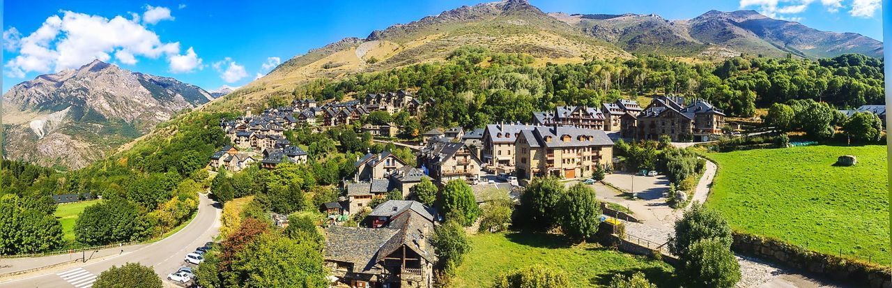 High in Pyrenees EyeEm Selects Mountain Mountain Range High Angle View Architecture Building Exterior Day Outdoors Scenics Travel Destinations Landscape