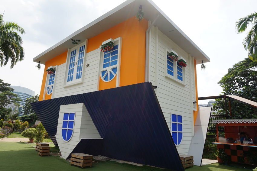 Upside down house ASIA Asian  Kuala Lumpur Travel Trees Upside Down House Architecture Building Exterior Built Structure Day House Malaysia No People Outdoors Sky Tree Upside Down