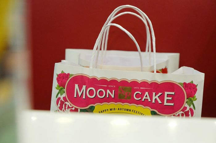 mooncake shopping bag Communication Indoors  Mooncake MooncakeFestival No People Pink Color Red Shopping Shoppingbag Text Vibrant Color Western Script