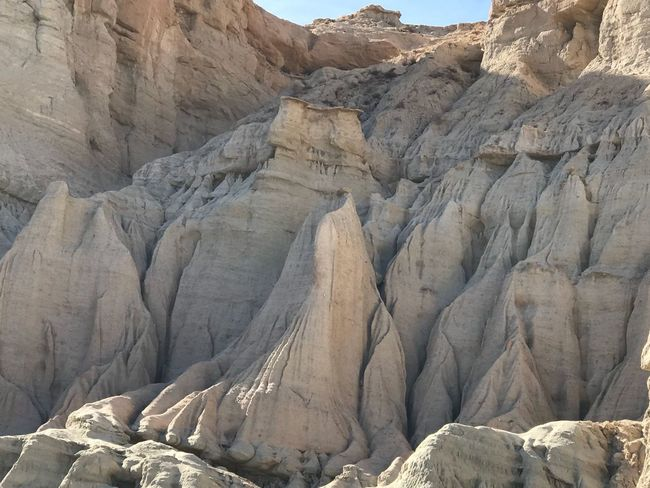 Tall gray hoodoos in Red Rock Canyon State Park, California Rock - Object Rock Formation Nature Day No People Steep Outdoors Sky Beauty In Nature Desert Cliff