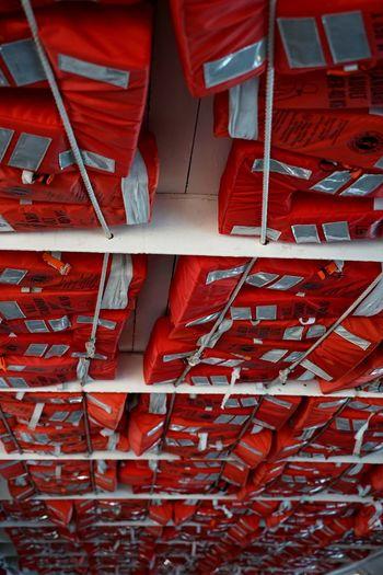 Full frame shot of red ceiling