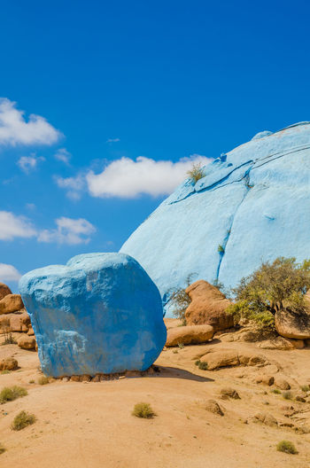 Famous Painted Rocks near Tafraoute, Morocco Morocco Painted Painted Rocks Rock Formation Art Arts Culture And Entertainment Beauty In Nature Blue Day Landscape Mountain Nature No People Outdoors Rock - Object Scenics Sky Tafraout Tranquil Scene Tranquility
