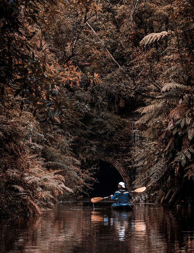Kayaking into the flooded Helensburgh tunnel EyeEm Best Shots EyeEmNewHere Flooded Kayaking Kayaking In Nature Beauty In Nature Kayak Mode Of Transportation Nature Nautical Vessel One Person Reflection Scenics - Nature Transportation Travel Tree Water The Photojournalist - 2018 EyeEm Awards The Great Outdoors - 2018 EyeEm Awards Summer Sports 50 Ways Of Seeing: Gratitude