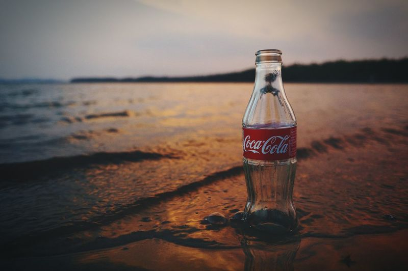 Cocacola Cola Beach Sea Bokeh Sea