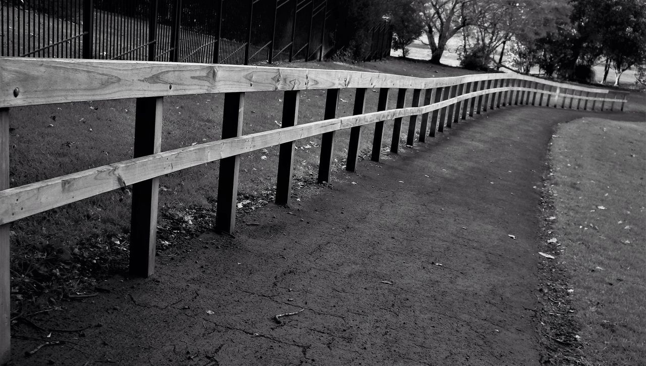 railing, outdoors, tree, no people, day, nature