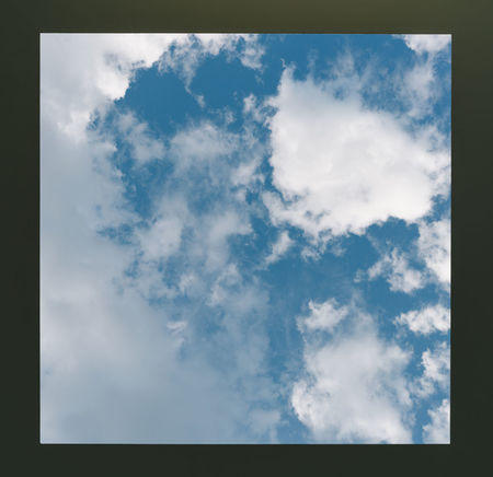 Window of sky Beauty In Nature Blue Cloud - Sky Day Low Angle View Nature No People Outdoors Sky Tranquility