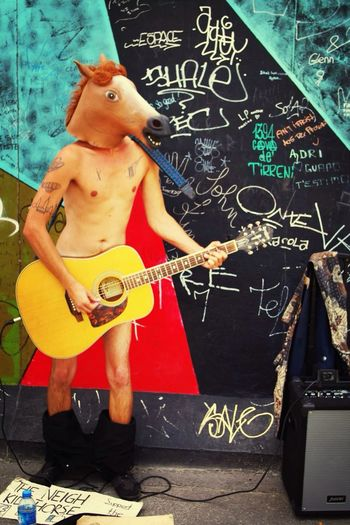 Berlin Wall Freaky Horse Funny Berlin Pants Down The Five Senses Hearing Capture The Moment