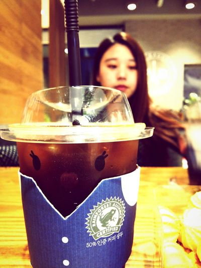 파리바게뜨 Paris Baguette Americano Coffee Americano Coffee 아메리카노 커피 카페 Cafe Star Ball Manju Girl Gentleman  Cute Cute Cup Best Friend
