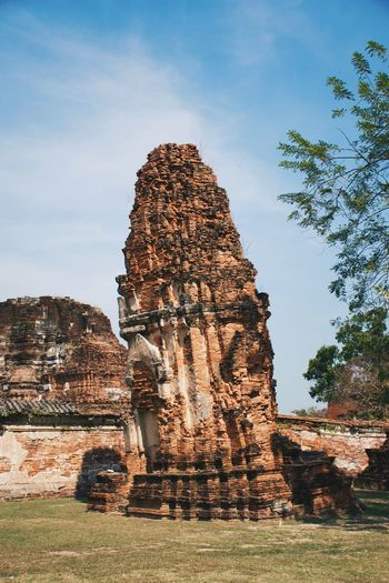 Traveling Photography Ayutthaya Historic Park Watmahathatayutthaya Watmahathat Historical Building Thailand Business Finance And Industry Religion Architecture Travel Destinations Old Ruin Building Exterior Ancient Civilization No People